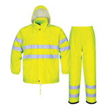 POLYESTER/ PVC REFLECTIVE RAINSUIT